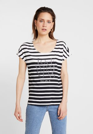 T-shirt med print - black/cream