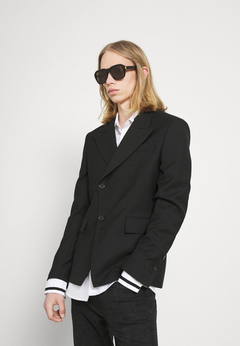 Dunhill - UNISEX - Sunglasses - black/black/brown