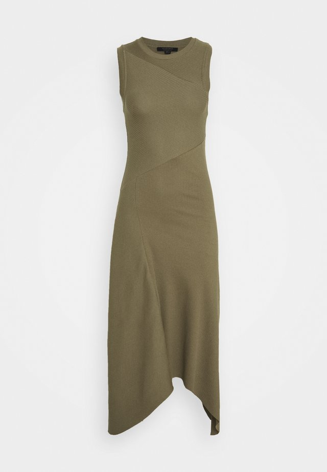 GIA DRESS - Maxi-jurk - khaki green