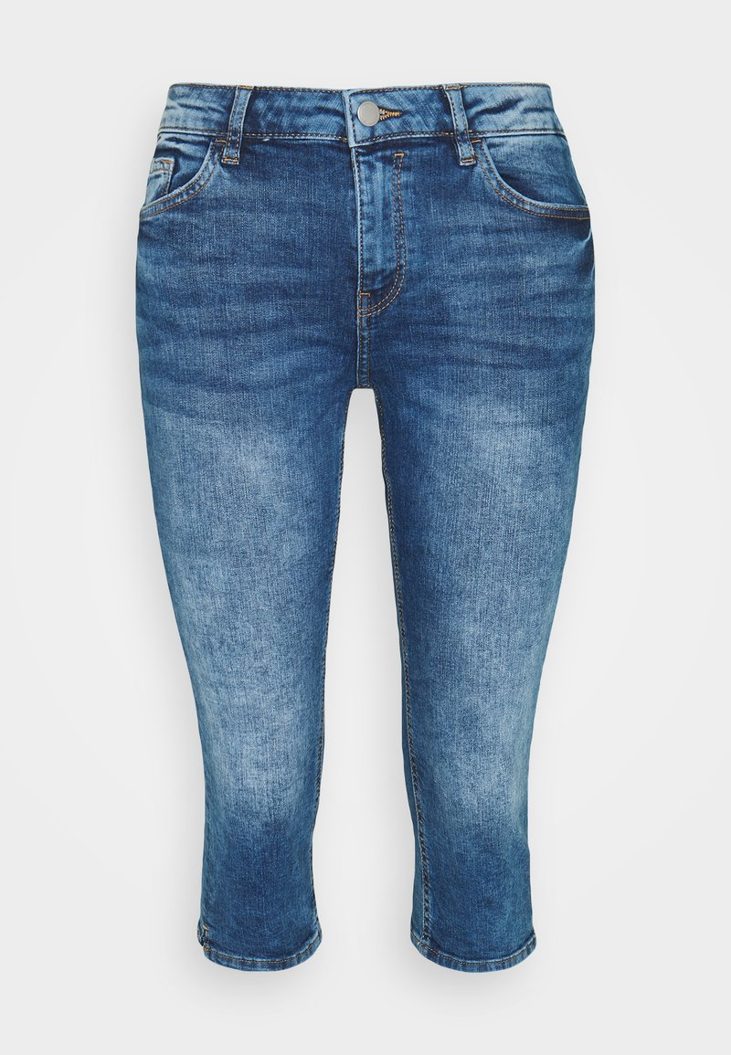 edc by Esprit - CAPRI - Denim shorts - blue denim
