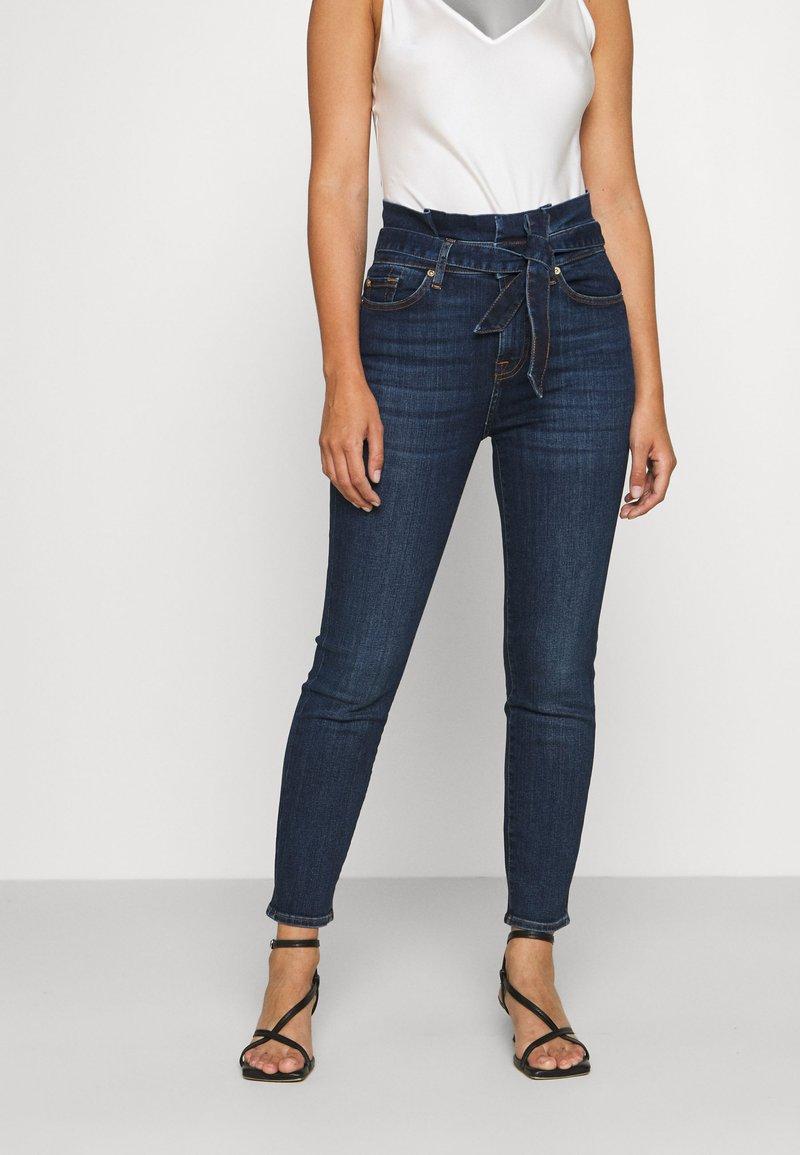 7 for all mankind - PAPERBAG PANT SOHO DARK - Slim fit jeans - dark blue