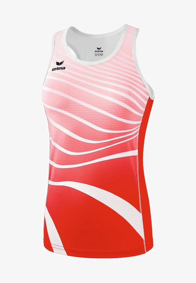 SINGLET TRAININGSTANK DAMEN - Top - red/white