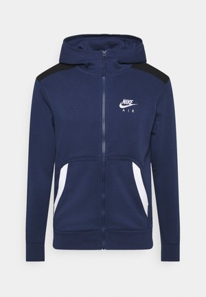 HOODIE - Huvtröja med dragkedja - midnight navy/black/white