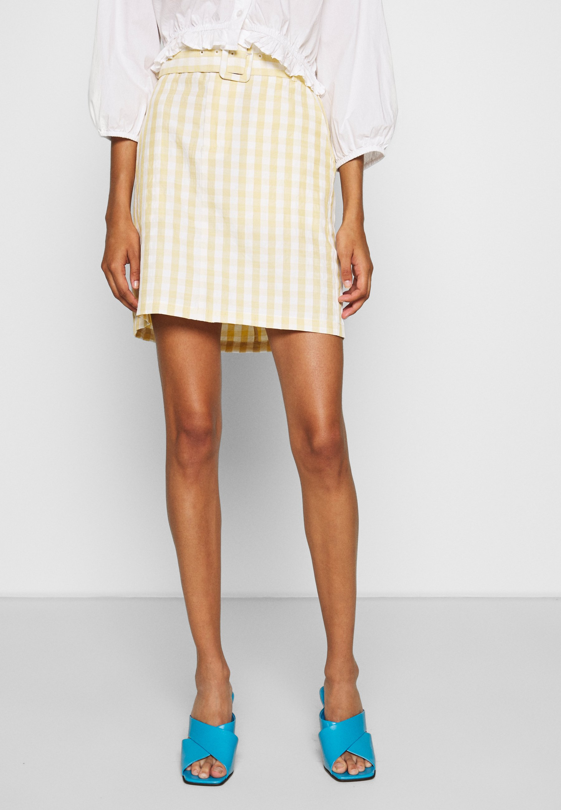 Minimum NOVARA SKIRT - Jupe trapèze - yellow - Jupes femme QQXdQ