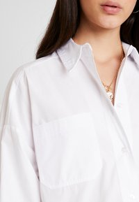 Topshop - OVERSIZED - Button-down blouse - white - 5