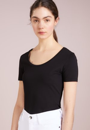 NATINA - Basic T-shirt - schwarz
