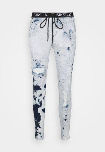 DISTRESSED ELASTICATED  - Jeans Skinny Fit - blue tie dye