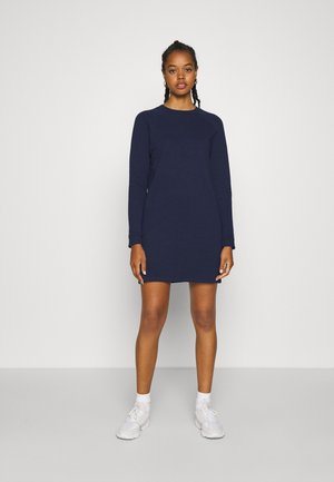 BASIC - Sweat mini dress - Denní šaty - dark blue