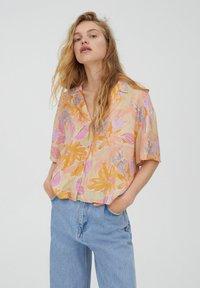 PULL&BEAR - Button-down blouse - orange - 0