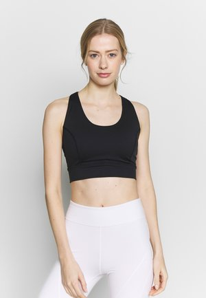LIGHT SYNERGY CROP - Sujetador deportivo - black