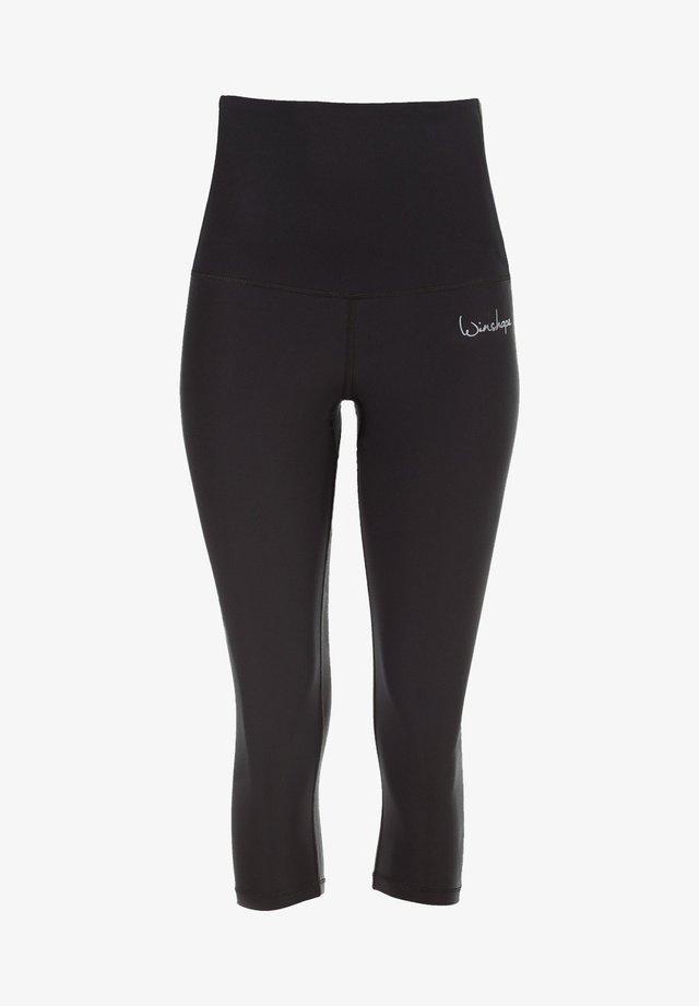 HWL202 SCHWARZ HIGH WAIST- 3/4 SPORTHOSE - 3/4 sports trousers - schwarz
