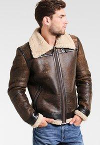 Goosecraft - LAMMY - Kožená bunda - brown - 0