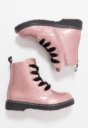 Lace-up ankle boots - pink