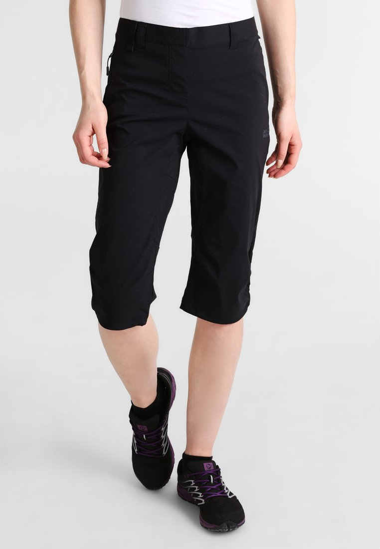 Jack Wolfskin - ACTIVATE LIGHT 3/4 PANTS - 3/4 sports trousers - black