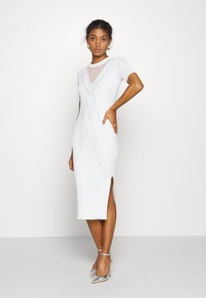 GIGI DRESS - Shift dress - star white