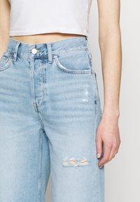 Even&Odd - Wide leg cropped jeans - Straight leg jeans - light blue denim - 4