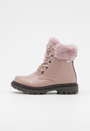 Bottines à lacets - old rose