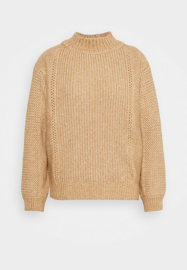 Pullover - coffee brown