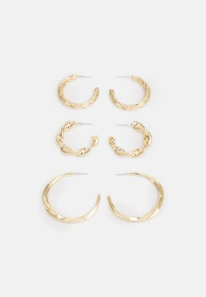 CHUNK TWIST HOOP 3 PACK - Korvakorut - gold-coloured