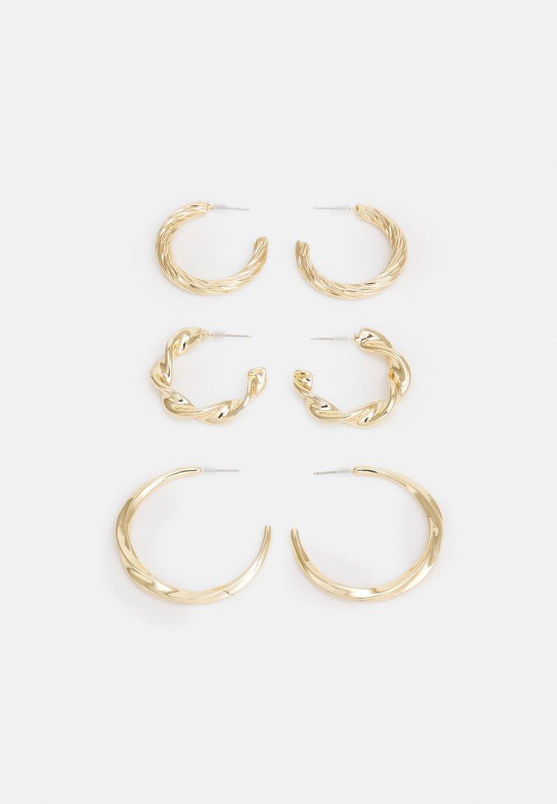 Topshop - CHUNK TWIST HOOP 3 PACK - Earrings - gold-coloured