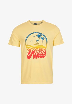 TEES GRADIENT VINTAGE SURF  - T-shirt med print - gold haze