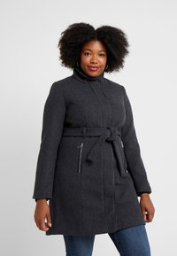Vero Moda Curve - Manteau classique - dark grey melange - 0