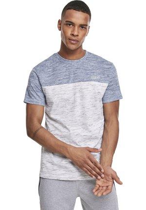 HERREN COLOR BLOCK TECH TEE - Print T-shirt - marled white