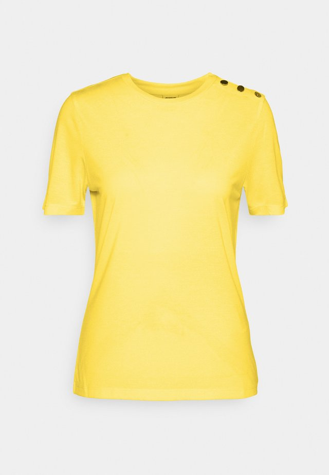 LONDON LIFE BUTTON - T-shirt basic - yellow cream