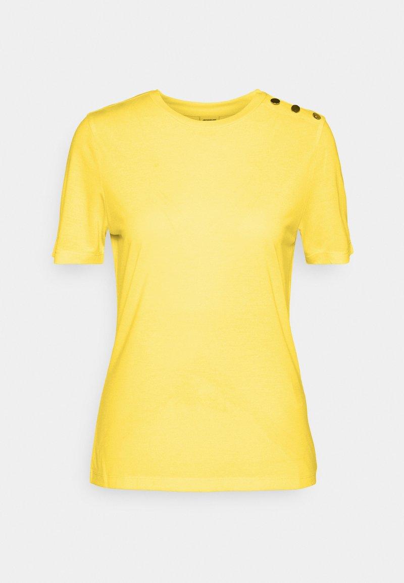 JDY - LONDON LIFE BUTTON - Basic T-shirt - yellow cream