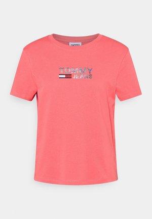 METALLIC CORP LOGO TEE - Print T-shirt - botanical pink