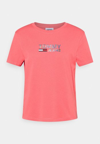 METALLIC CORP LOGO TEE - T-shirt print - botanical pink