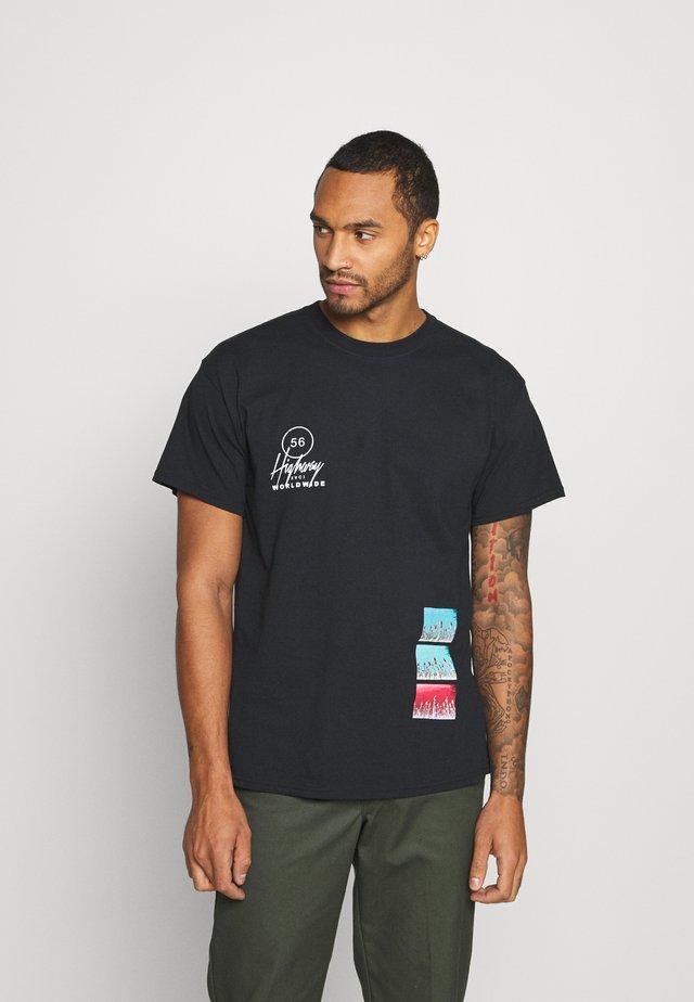 HIGHWAY TEE - T-shirt imprimé - black