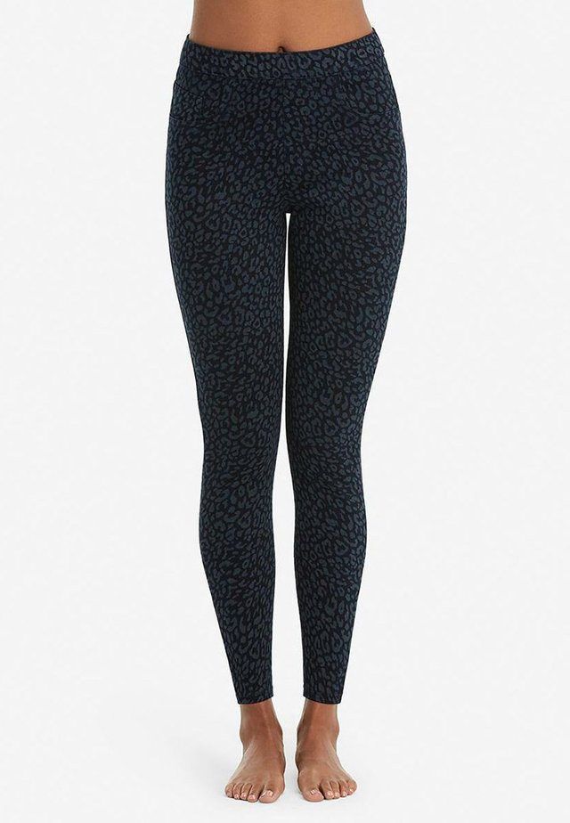 ANKLE JEAN-ISH - Leggings - denim leopard