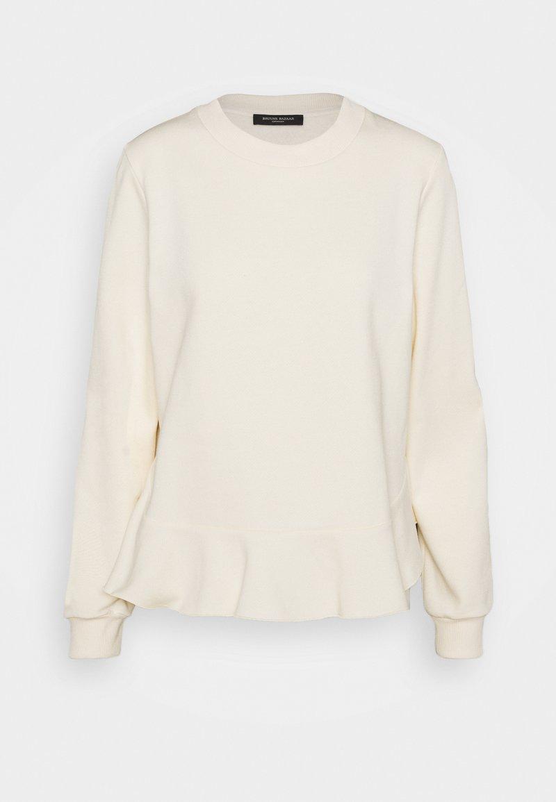 Bruuns Bazaar - RUBINE RIEA OPTION - Sweatshirt - white cream