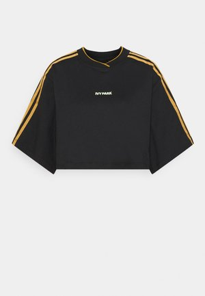 Ivy Park 3-Stripes Crop Tee - Print T-shirt - black