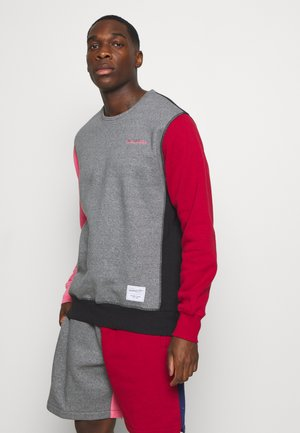 COLORBLOCKED CREW - Sweatshirt - grey heather