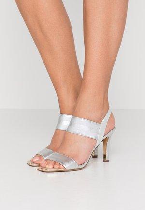 BRYSON MULTI STRAP SLINGBACK  - Sandály na vysokém podpatku - silver