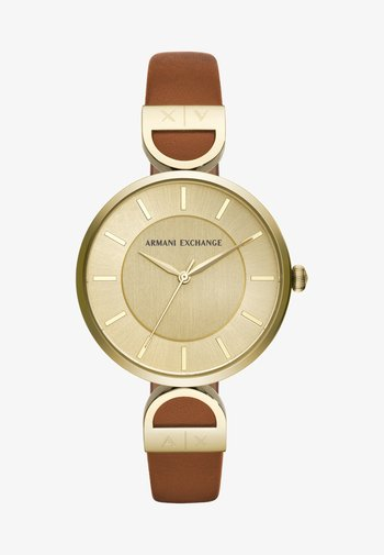 Watch - brown/gold-coloured