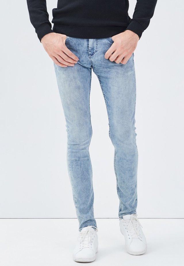 MIT 5 TASCHEN - Jeans slim fit - denim double stone