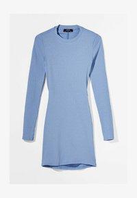 Bershka - MIT RAFFUNGEN  - Jumper dress - light blue - 4