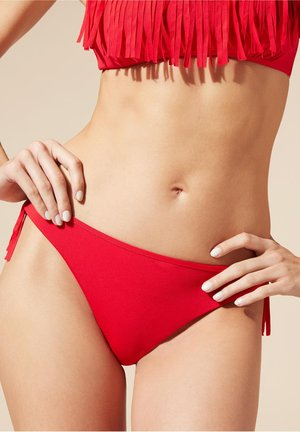 MIT NIEDRIGEM BUND ANNA - Bikini bottoms - hawaiian red