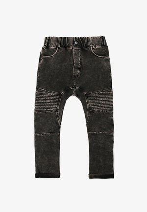 Straight leg jeans - marble black
