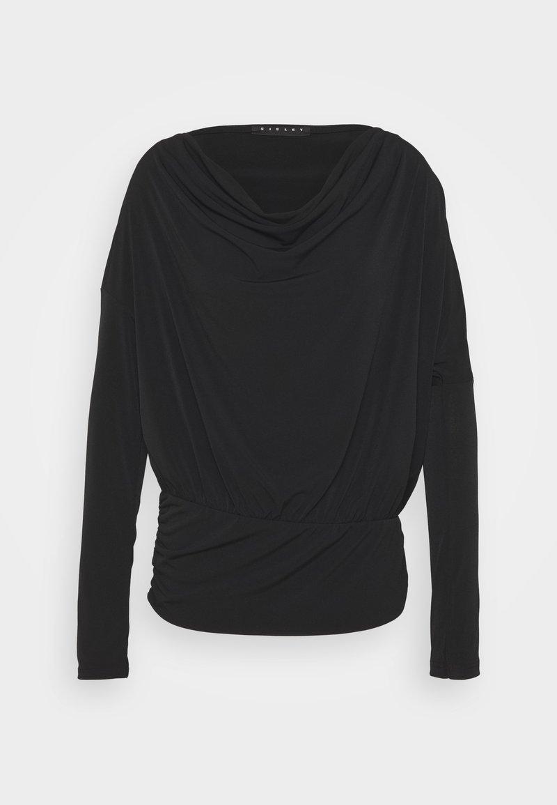 Sisley - Maglietta a manica lunga - black