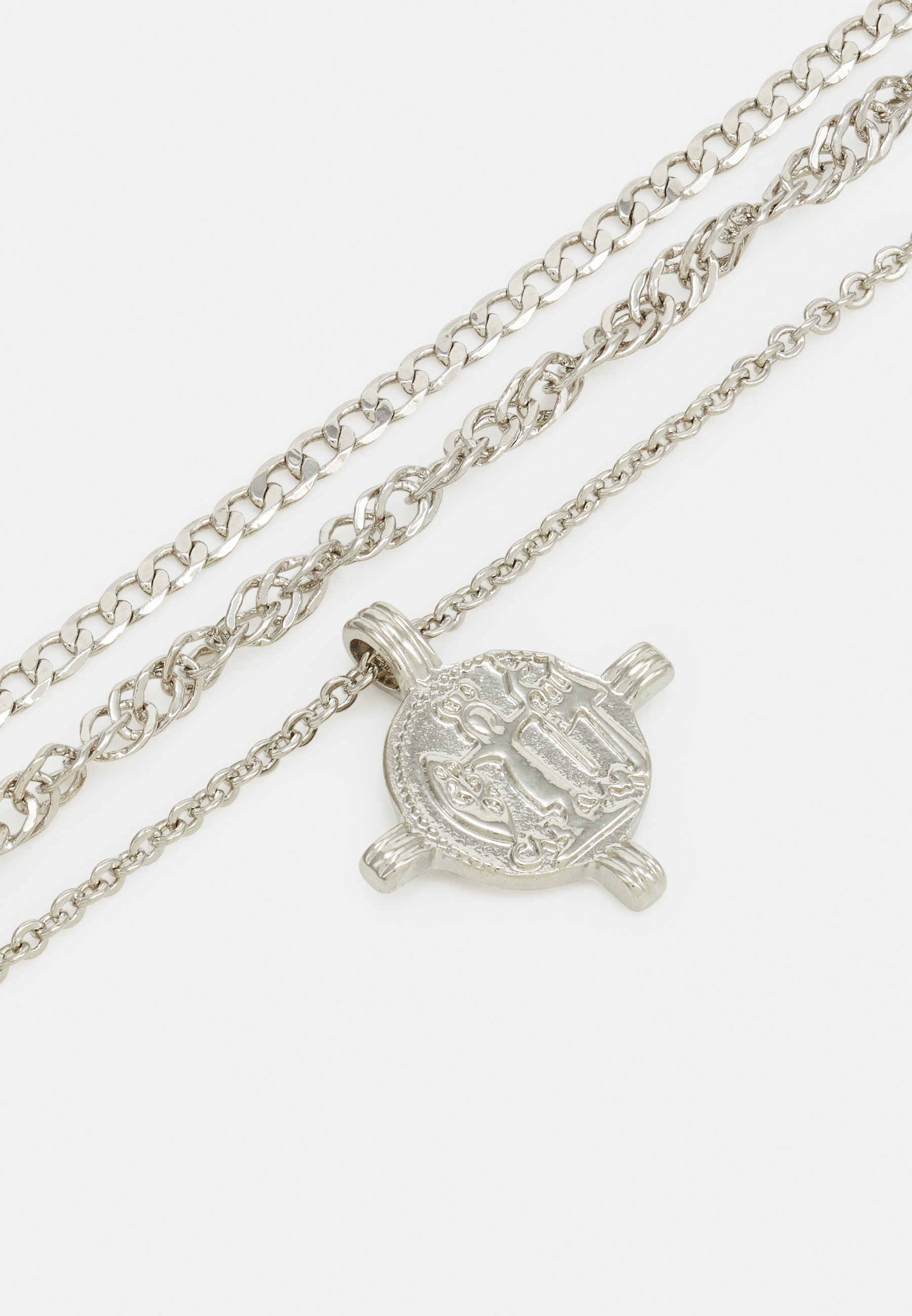 Pieces PCVILLA COMBI NECKLACE - Smykke - silver-coloured/sølv v9txviwynrEv9hV