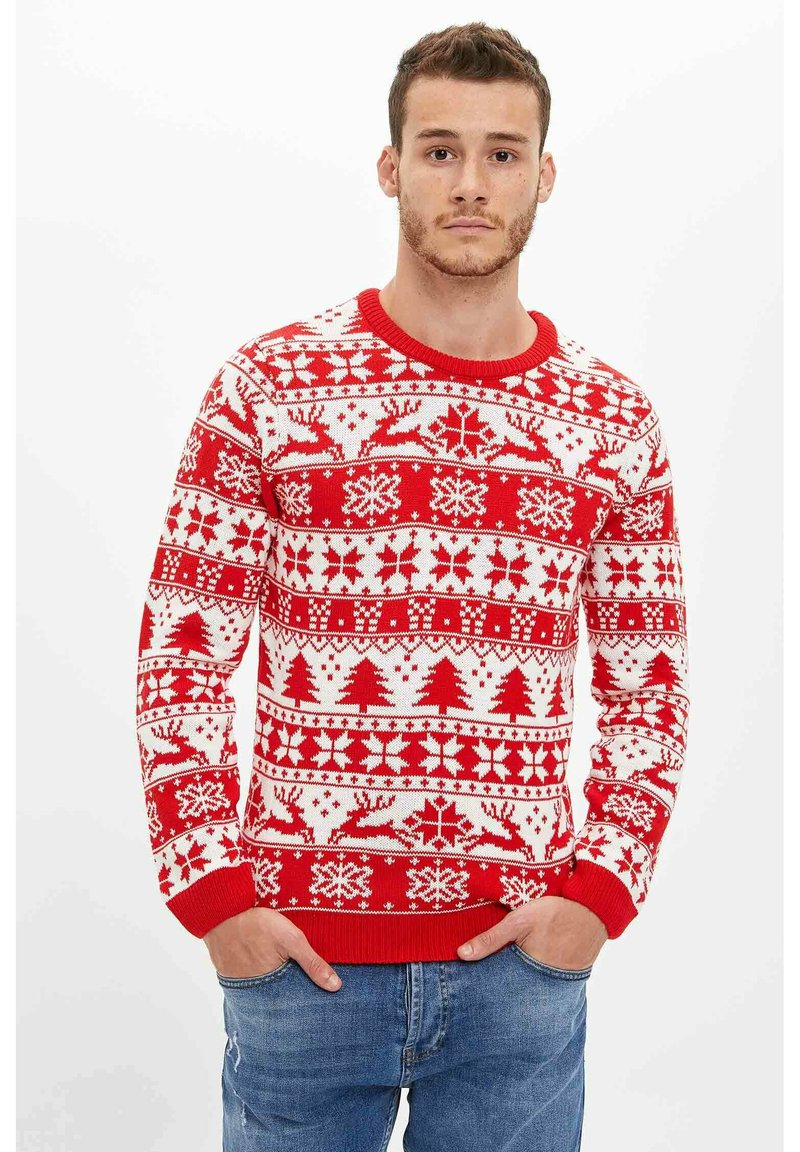 DeFacto - CHRISTMAS - Jumper - red