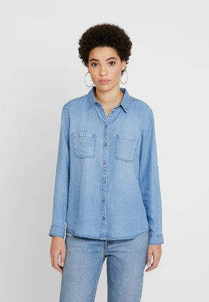 BLOUSE - Button-down blouse - blue denim