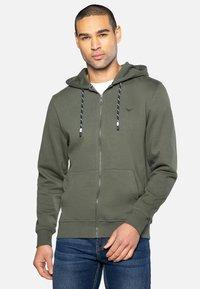 Threadbare - TANGERINE - Zip-up hoodie - dark khaki - 0