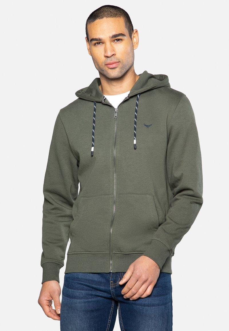 Threadbare - TANGERINE - Zip-up hoodie - dark khaki
