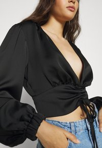 Gina Tricot - TARA BLOUSE - Blouse - black - 4