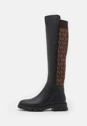 RIDLEY BOOT - Kozačky nad kolena - black/brown